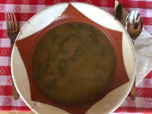 Sopa bio do Lusitano