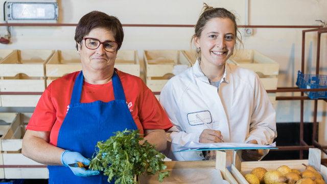 Preparação de vegetais frescos